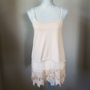 Tops - Lacy layered tank